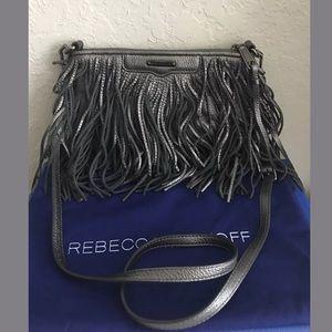 Rebecca Minkoff Platinum Fringe Finn Crossbody